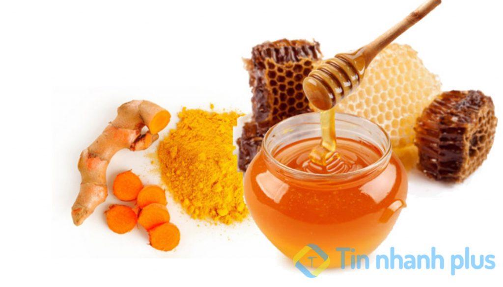 dưỡng trắng da toàn thân bằng nghệ và mật ong