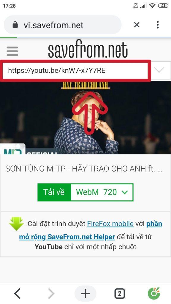 tai video youtube trên điện thoại