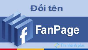 mẹo đổi tên fanpage