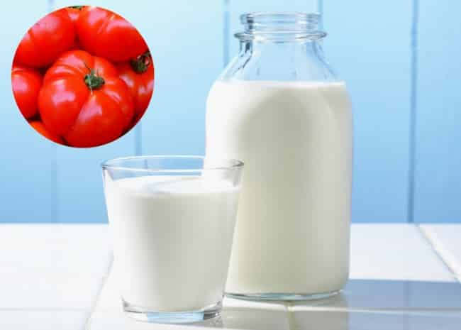 Cách làm trắng da bằng cà chua và sữa tươi