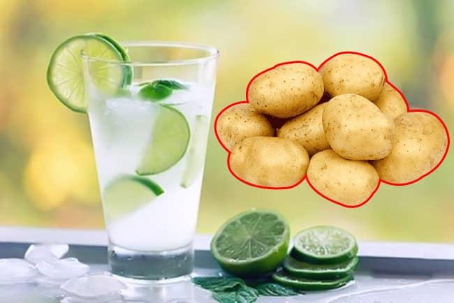 nước cốt chanh ăn với khoai tây giúp giảm cân
