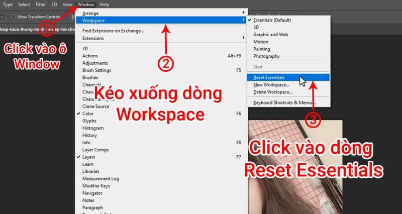 hướng dẫn cách reset photoshop về mặc định