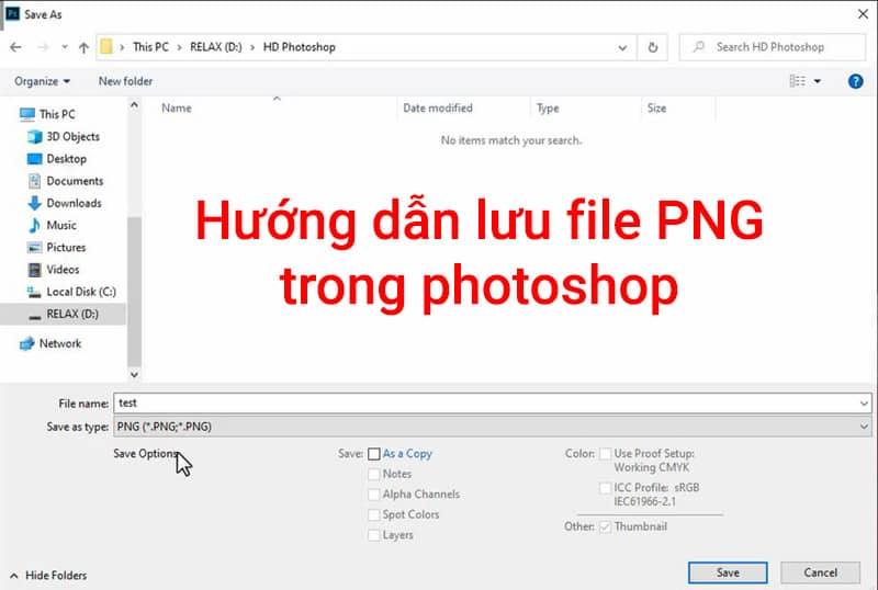 hướng dẫn lưu ảnh png trong photoshop