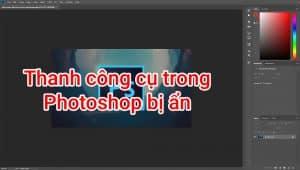 thanh công cụ bị ẩn trong photoshop