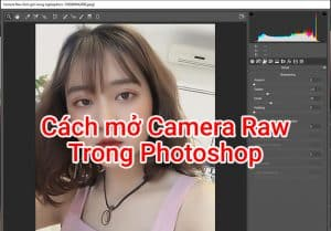 mở camera raw photoshop