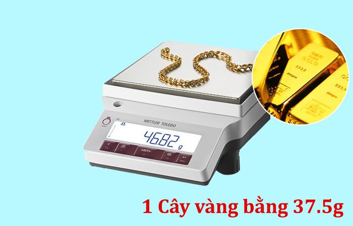 1 cây vàng bằng bao nhiêu kg