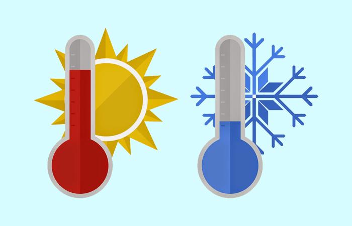 khí nóng nhẹ hơn khí lạnh