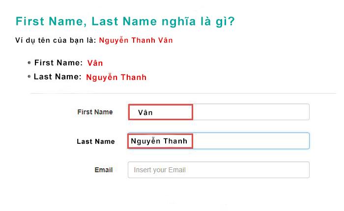 first name last name nghĩa là gì