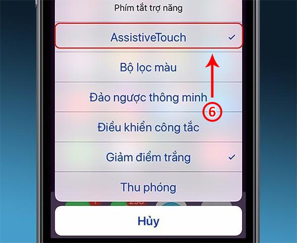bật nút home ảo trên iphone 6 plus