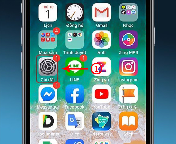 bật nút home ảo trên iphone 6s