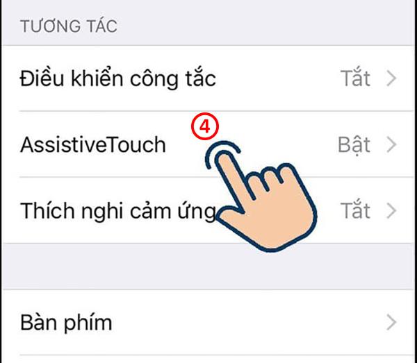 bật nút home ảo trên iphone 7