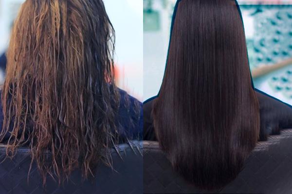 cách làm tóc xoăn thành thẳng