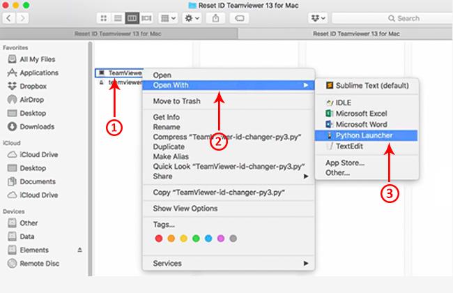 reset teamviewer trên macbook