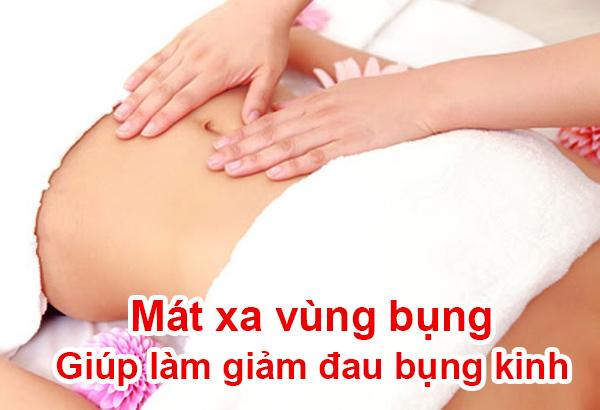 mát-xa bụng giúp làm giảm đau bụng kinh