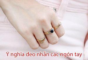 ý nghĩa đeo nhẫn các ngón tay