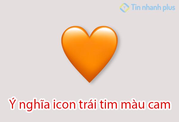 ý nghĩa icon trái tim màu cam