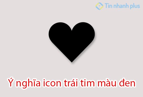ý nghĩa icon trái tim màu đen