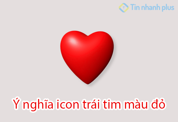 ý nghĩa icon trái tim màu đỏ