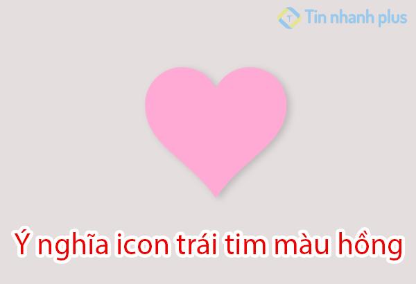 ý nghĩa icon trái tim màu hồng