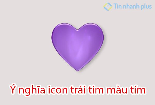 ý nghĩa icon trái tim màu tím