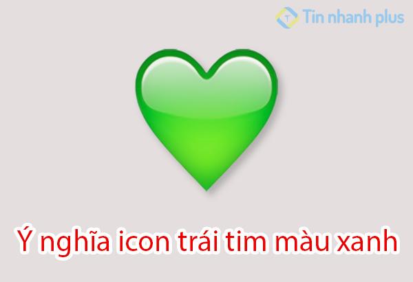 ý nghĩa icon trái tim màu xanh