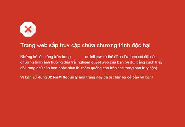 không truy cập vào trang web có chứa mã độc