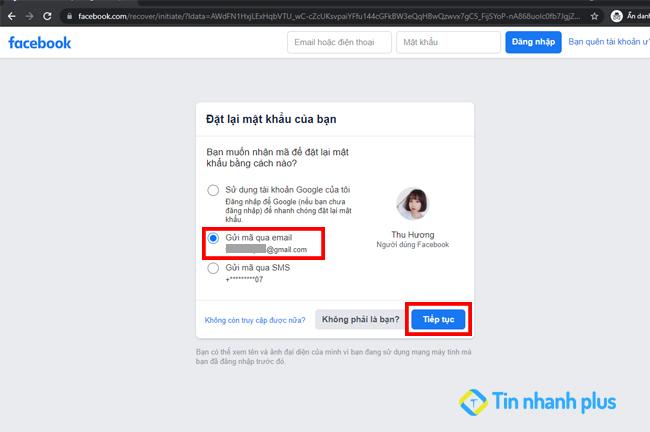 nhập mã bảo mật facebook từ gmail