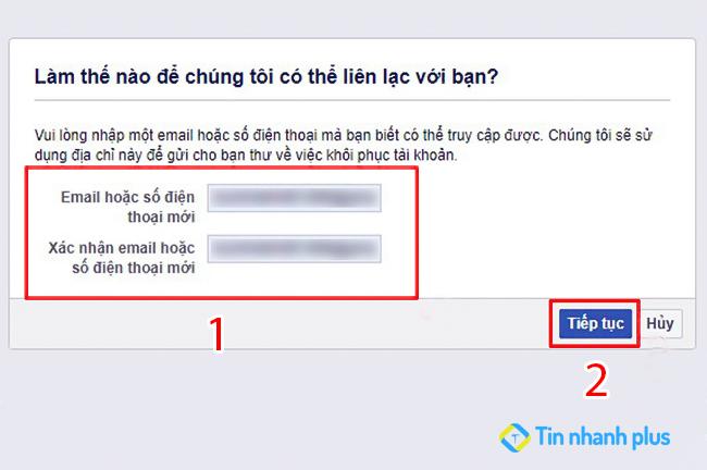 cập nhật email mới để lấy lại mật khẩu facebook