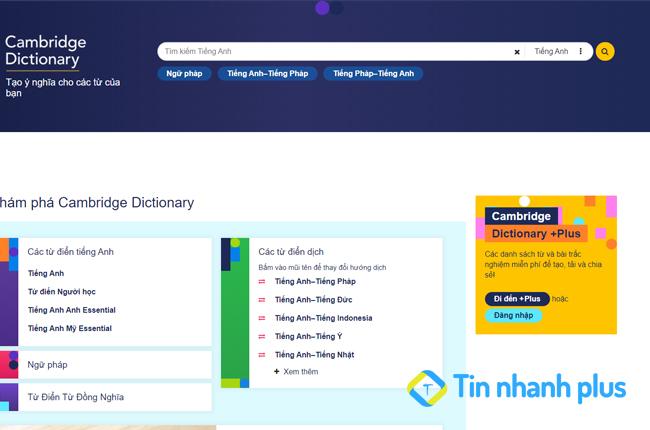 phần mềm Cambridge Dictionary