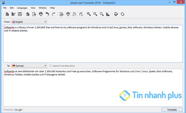 phần mềm Just Translate