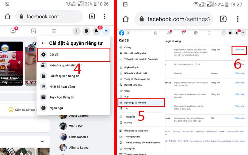 thay đổi tên facebook khi chưa đủ 60 ngày trên mobi