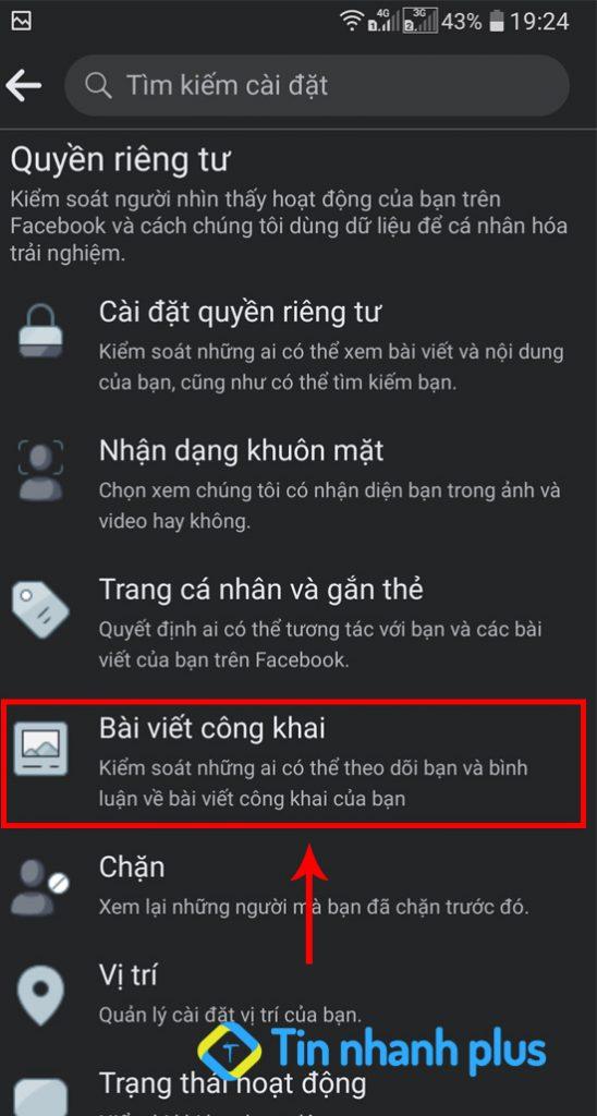 cách bật theo dõi facebook bằng điện thoại