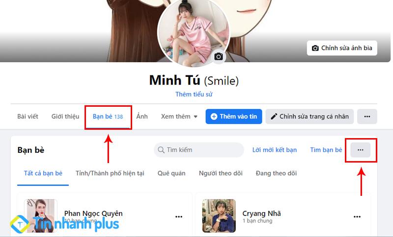 hướng dẫn ẩn danh sách bạn bè facebook trên máy tính