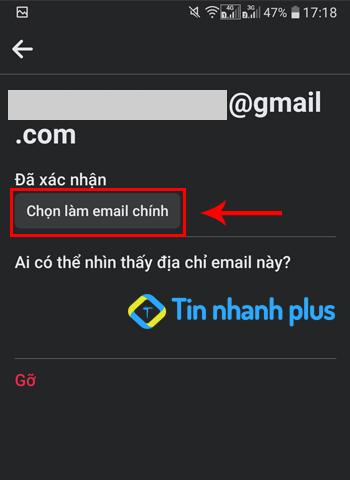 làm sao để facebook gửi mã xác nhận về email