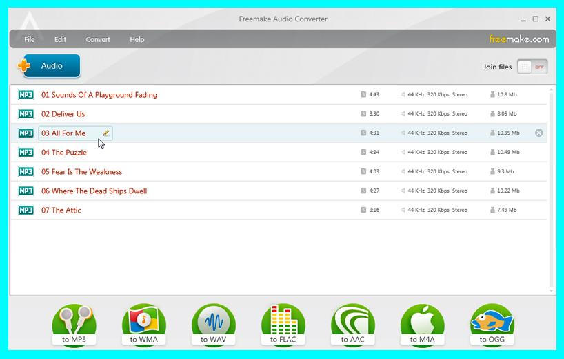 phần mềm Freemake Audio Converter