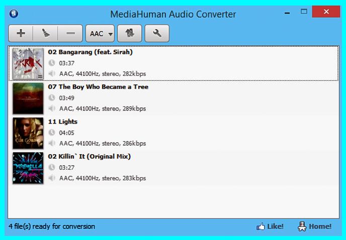 phần mềm MediaHuman Audio Converter