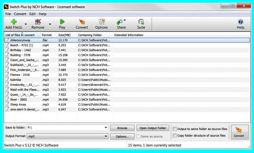 phần mềm Switch Plus Audio Converter