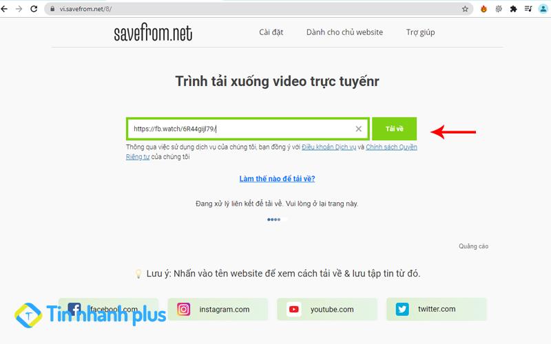 hướng dẫn tải video facebook về máy tính bằng savefrom