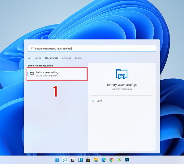 tắt phần mềm chạy ngầm trên windows bằng Battery saver settings