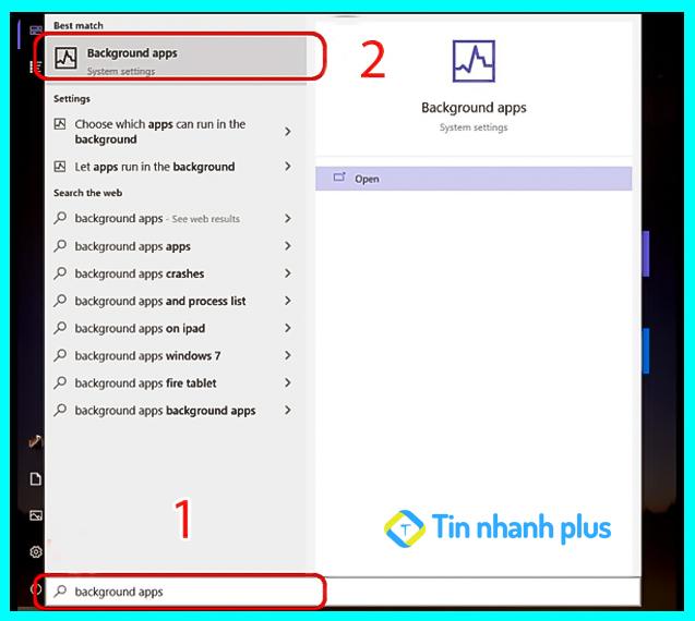 tắt ứng dụng trên máy tính bằng Windows Settings