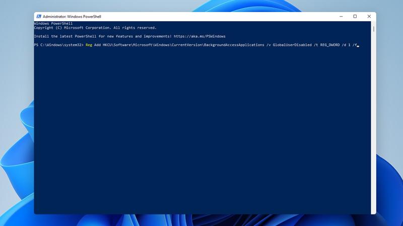 tắt ứng dụng chạy ngầm windows PowerShell