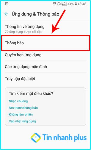 hướng dẫn bật thông báo messenger trên điện thoại