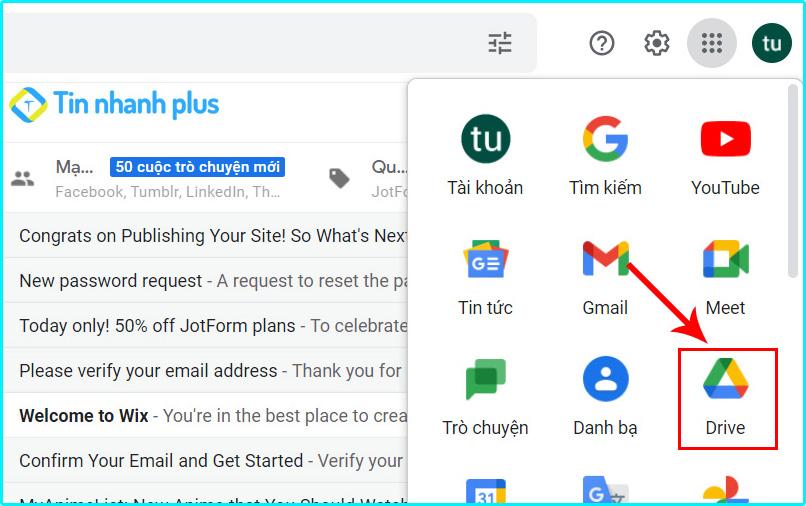 cách gửi tệp tin lớn trên gmail