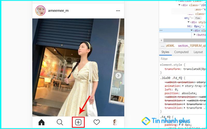 cách để tải ảnh lên instagram bằng máy tính
