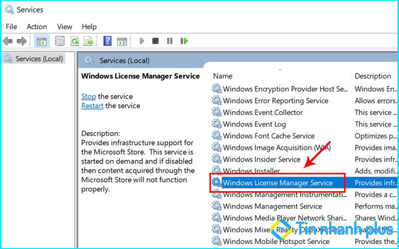 vô hiệu hóa services-windows khắc phục lỗi your windows license will expire soon win 10
