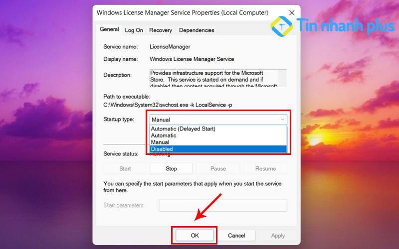 vô hiệu hóa services windows để sửa lỗi your windows license will expire soon win 10