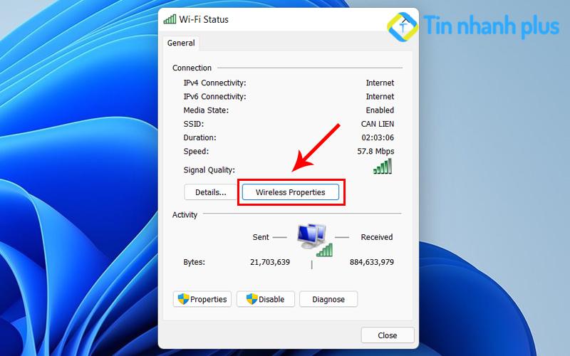 hướng dẫn cách xem mật khẩu wifi trong win 11