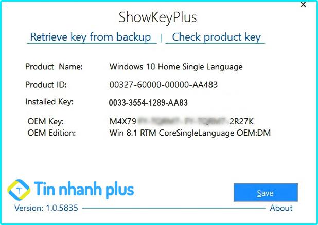 phần mềm Show Key Plus