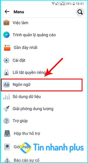hướng dẫn cách chỉnh ngôn ngữ facebook lite