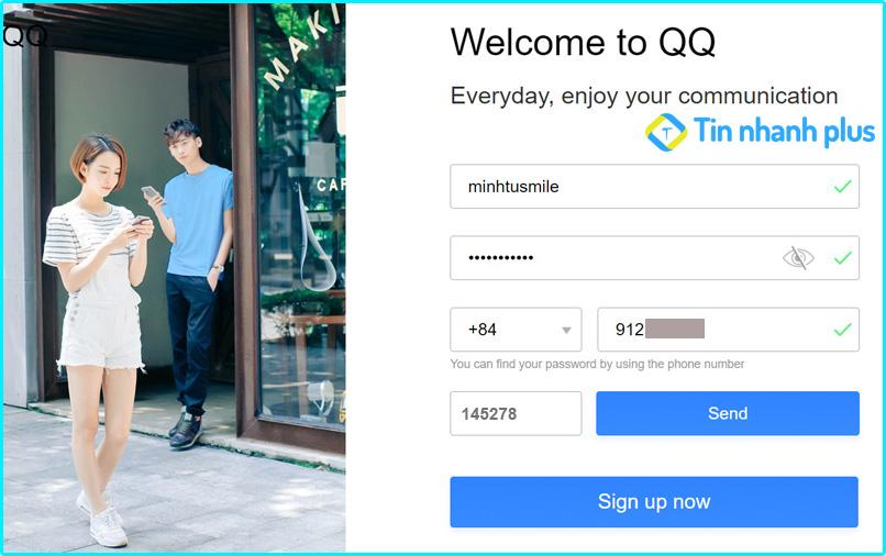 hướng dẫn đăng ký qq trên máy tính